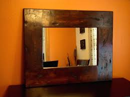 rustic black wood frame. Full Size Of Small Wood Framed Wall Mirrors Reclaimed Mirror More Rustic Black Frame