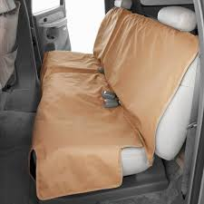 canine covers polycotton econo plus rear tan seat protector