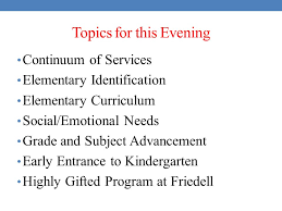 elementary curriculum social emotional needs grade and subject advancement early entrance to kindergarten highly gifted program at friedell
