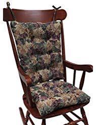 klear vu the gripper non slip cabernet tapestry jumbo rocking chair cushions