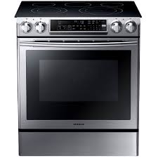 samsung electric stove. samsung smooth surface 5-element self-cleaning with steam slide-in multi- electric stove u