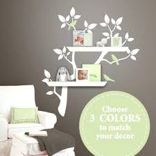 shelving tree wall decal shelving tree decal with birds wall decals nursery  decor white children wall