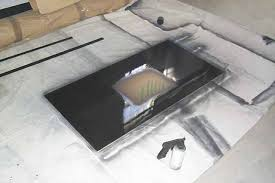 pick up a can of black spray paint and spray a coating onto the plexiglass wait 15 mins and repeat 2 3 more times to make sure you have a thick and