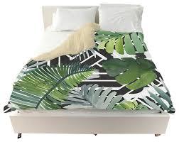 oliver gal introspect palm leaves black duvet cover tropical duvet covers and duvet sets by the oliver gal artist co