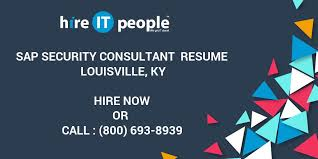 Sap Security Consultant Resume Louisville Ky Hire It People We