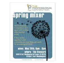 Spring Event Flyer The Professional Connection Spring Event Flyer On Behance