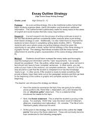English Paper Outline Example Business Essay Writing Apa Format