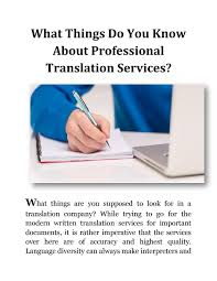 What Things Do You Know About Professional Translation Services ...