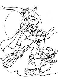 Small Picture Flying Witches Halloween Coloring Pages Printable Free Hallowen