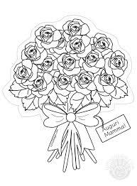 Bouquet Di Rose Da Colorare Festa Della Mamma Tuttodisegnicom