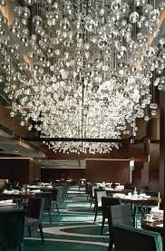 large hanging chandeliers at the mira hotel in hong kong