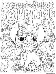Mandala Disney Facile Stitch From Lilo Collection Et Dessin De