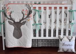 luxury deer head crib bedding baby girl c bedding deer crib sheet