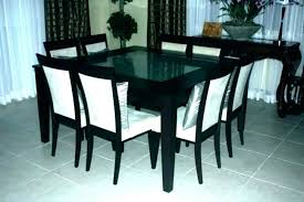 rustic oak dining table and 8 chairs dark light round for tables chair furniture surprising enchanting