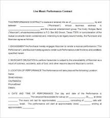 music management contract artist management contract template business