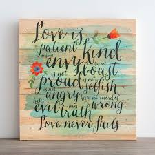 love is patient wood plank wall art