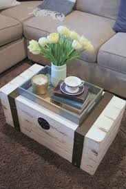 loving this vintage trunk turned coffee table