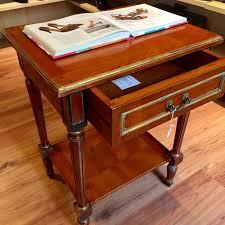 cherry wood nightstand. Cherry Wood Nightstand - Siral Empire Style 20th Century