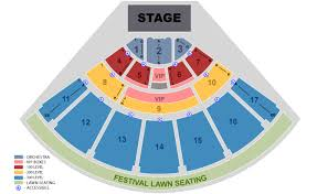 Ford Amphitheater Seating Chart Midflorida Credit Union Amphitheatre Seating Chart
