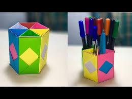 how to design pencil holder pen holder ideas diy paper crafts pencil holder origami pencil box