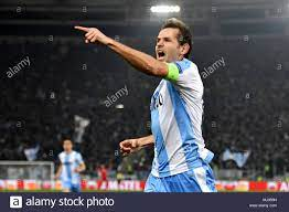 Esultanza gol Senad Lulic Lazio goal celebration 1-0 Roma 05-04-2018 Stadio  Olimpico Football Calcio Europa League 2017/2018 Lazio - Salzburg / Lazio  Stock Photo - Alamy