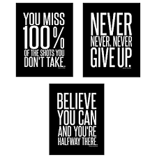wall decorations for office. Motivational Inspirational Famous Quotes Teen Boy Girl Sports Wall Art Posters Decorative Prints Black White Workout Fitness Decor Home Office Business Decorations For