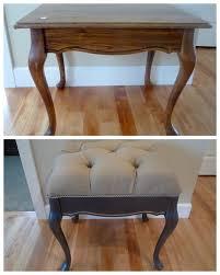 repurpose furniture. Repurposed Into Tufted Bench - CraftySisters Upcycle Repurpose Furniture