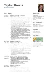 Sales Coordinator Resume Samples Visualcv Resume Samples Database