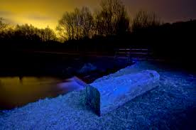 morning dawn atmosphere river dusk stream ice evening log reflection darkness blue yellow moonlight cloudscape light painting trees