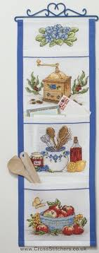 kitchen pocket wall hanging cross stitch kits idéna collection by anchor