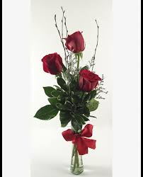 trio three beautiful roses the gift of three hand picked deep red roses