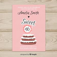 Sixteen Birthday Cake Toppers Invitation Template Vector Free Download