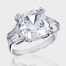 high quality cubic zirconia wedding rings. 7.0 ct. cushion cut fancy solitaire 14k ring. this lovely high quality cubic zirconia wedding rings