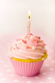 11 Cupcakes With Candle On It Photo Happy Birthday Cupcake With