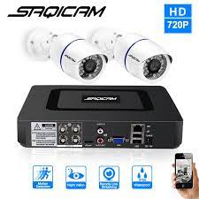 Saqicam 4CH güvenlik kamerası Sistemi 720 P 1080N CCTV DVR 2 ADET 1200TVL  IR Su Geçirmez Açık Güvenlik Kamera Ev Video Gözetim kiti kit kits kits  video surveillancekit outdoor - AliExpress