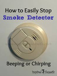 how to easily stop smoke detector beeping or chirping inspired housewife