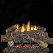 superior fireplaces 24 inch boulder mountain gas logs with vent free natural gas blaze n glow ramp burner manual safety pilot w thermostatic control