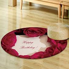 anti skid area rug roses and card happy birthday holiday background soft area rugs round 24 wantitall