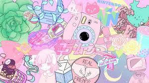 Aesthetic Kawaii Pastel Pink Background ...