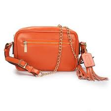 Coach Legacy Flight Medium Orange Crossbody Bags 51421