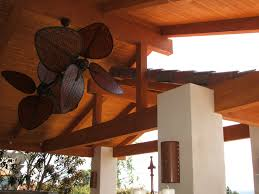 rustic big outdoor ceiling fans