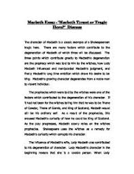 essay tragedy macbeth  essays on tragedy of tragic macbeth essays and papers
