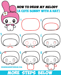 How To Draw Kawaii Chibi My Melody From Hello Kitty A