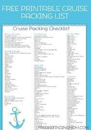 Cruise Packing List Free Printable Caribbean Cruise Packing List