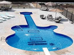 Luxury pool house, swimming pool party guitar shaped swimming pool ...