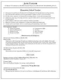Sample Resume For Teacher Musiccityspiritsandcocktail Com