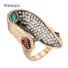 Hot 2018 Personalized Crystal Wave Ring Bohemian Jewelry ...