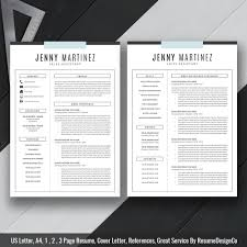 Resume Template Word Download 2019 Simple Cv Template Cv Layout Cover Letter References Creative Resume Design Best Resume Instant Download