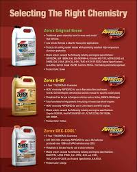 Zerex Coolant Compatibility Chart Zerex Coolant Charts Marketing And Their Conventional 5