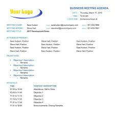 Agenda Examples For Business Meetings Ready Temp 0 Suitable ...